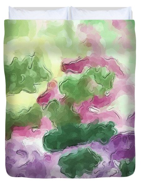 Color And Light In Monet's Garden Duvet Cover by Heidi Smith