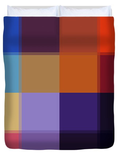 Color Block Colorful I By Madart Duvet Cover by Megan Duncanson