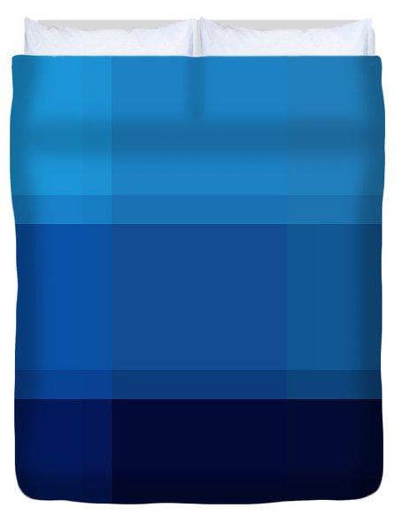 COLOR BLOCK Dark Blues by MADART Duvet Cover by Megan Duncanson