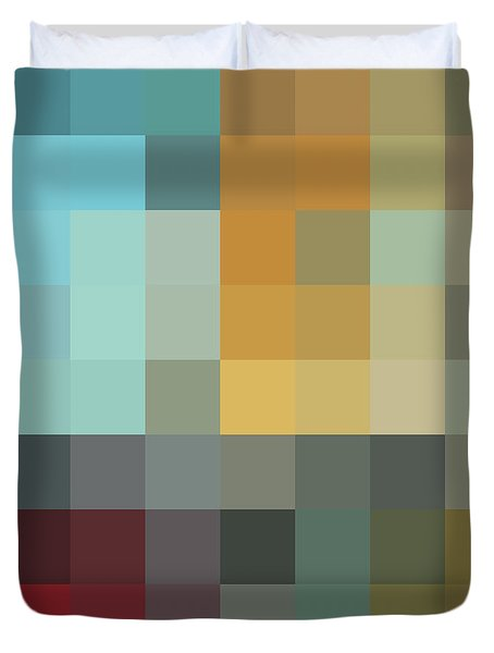 Color Blocking In The Maze II By Madart Duvet Cover by Megan Duncanson