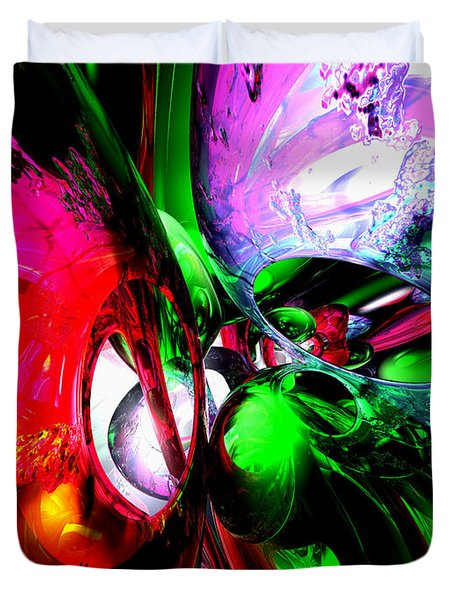 Color Carnival Abstract Duvet Cover by Alexander Butler