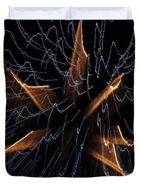 Color Me Electric Duvet Cover by Rhonda Barrett