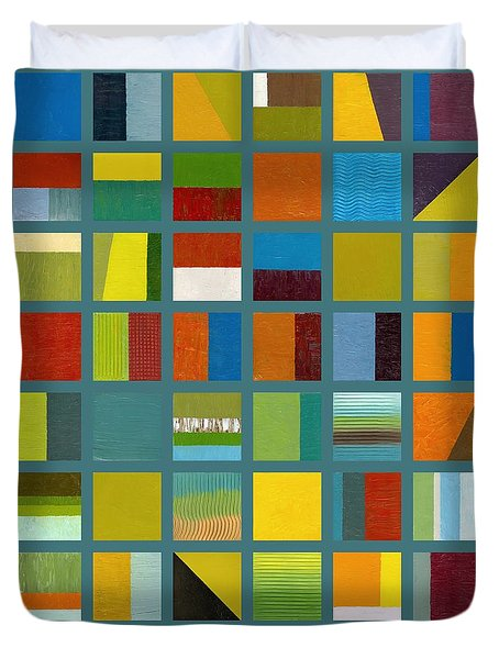 Color Study Collage 67 Duvet Cover by Michelle Calkins