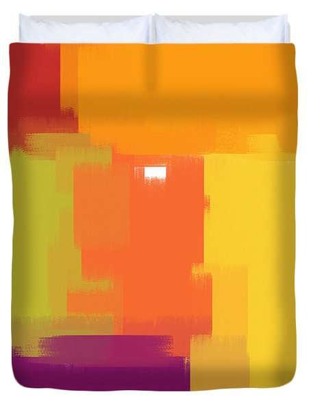 Colorblock Duvet Cover by Heidi Smith