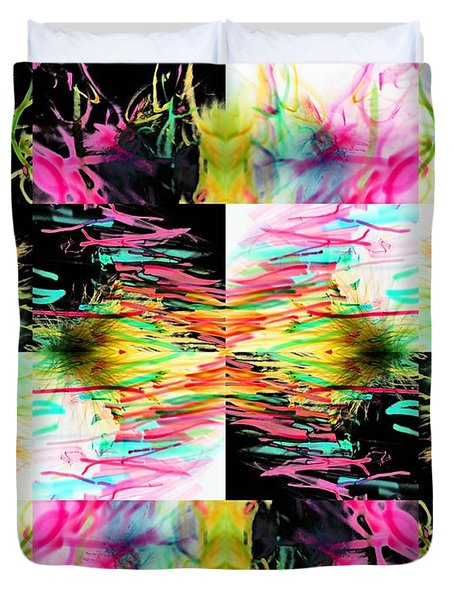 Colored Tubes Duvet Cover by Sumit Mehndiratta