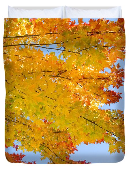 Colorful Autumn Reaching Out Duvet Cover by James BO  Insogna