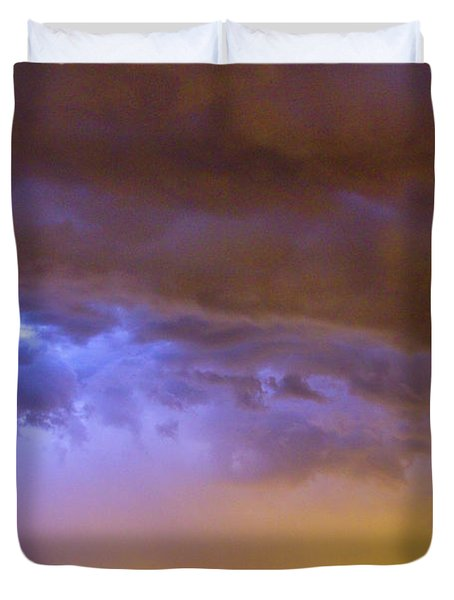 Colorful Cloud to Cloud Lightning Stormy Sky Duvet Cover by James BO  Insogna