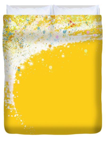 Colorful Curved Duvet Cover by Setsiri Silapasuwanchai