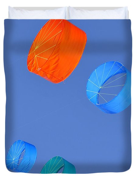 Colorful Kites Duvet Cover by David Lee Thompson