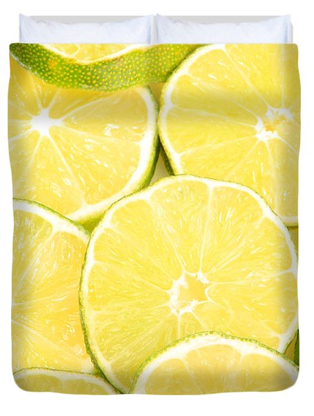 Colorful Limes Duvet Cover by James BO  Insogna