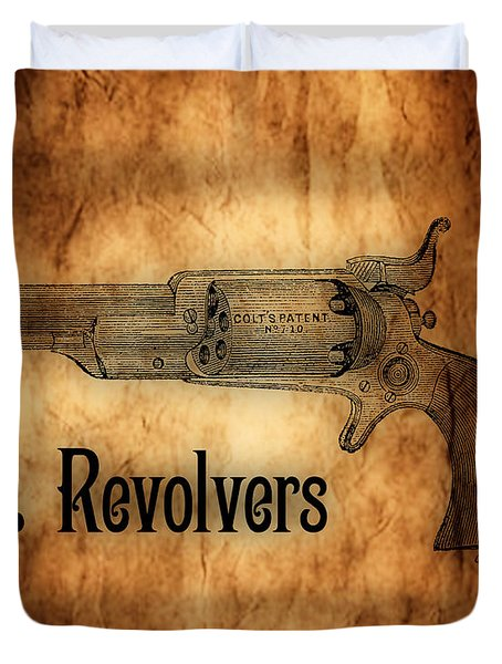 Colt Revolvers Duvet Cover by Cheryl Young