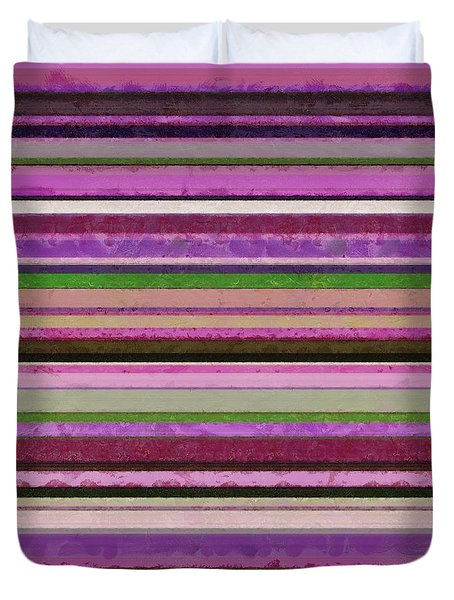 Comfortable Stripes Lll Duvet Cover by Michelle Calkins