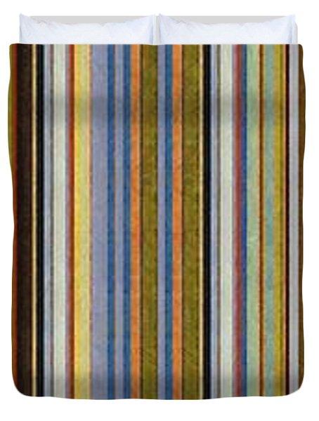 Comfortable Stripes Vlll Duvet Cover by Michelle Calkins