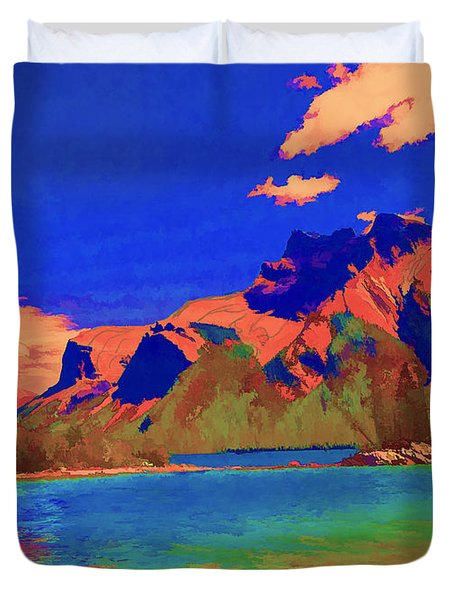 Complementary Mountains Duvet Cover by Jo-Anne Gazo-McKim