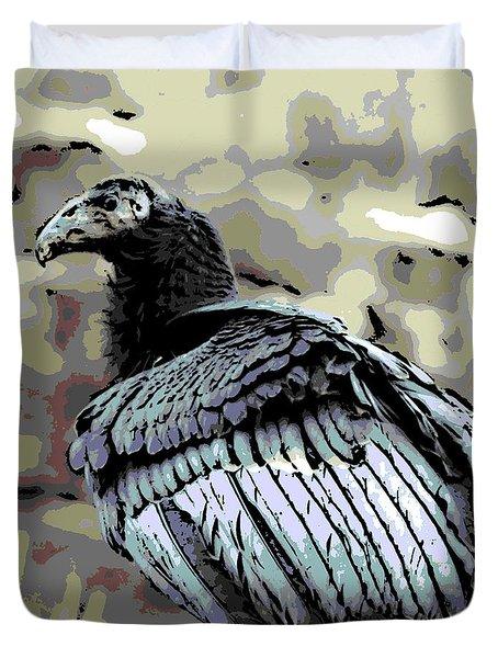 Condor Profile Duvet Cover by George Pedro