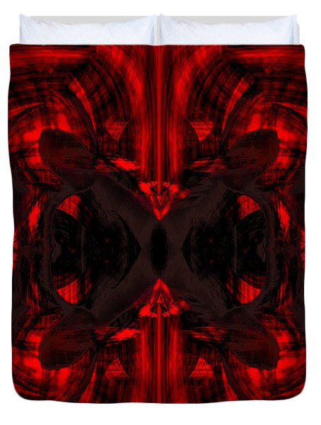 Conjoint - Crimson Duvet Cover by Christopher Gaston