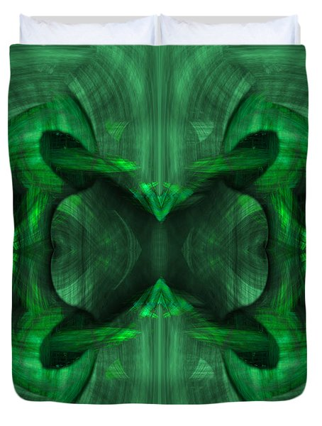 Conjoint - Emerald Duvet Cover by Christopher Gaston