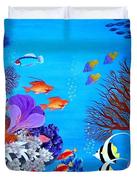 Coral Garden Duvet Cover by Fram Cama