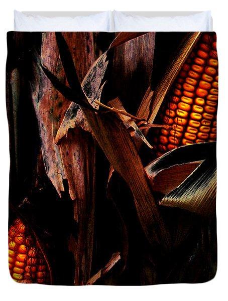 Corn Stalks Duvet Cover by Rachel Christine Nowicki