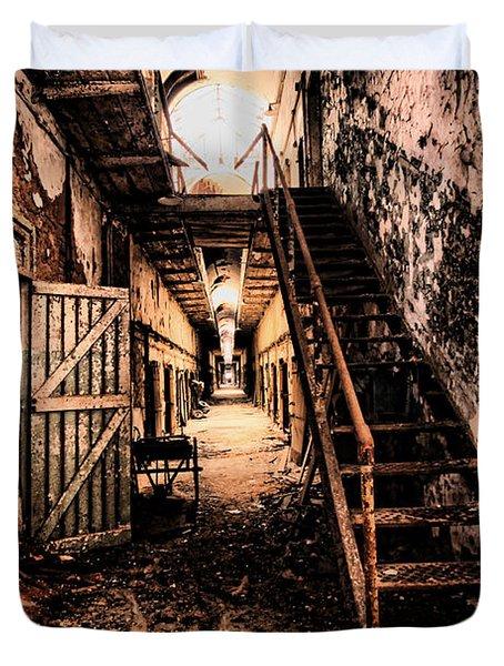 Corridor Creep Duvet Cover by Andrew Paranavitana
