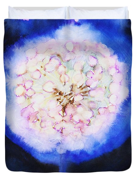 Cosmic Bloom Duvet Cover by Tara Thelen