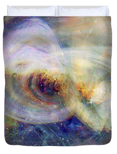 Cosmic Dust Duvet Cover by Linda Sannuti
