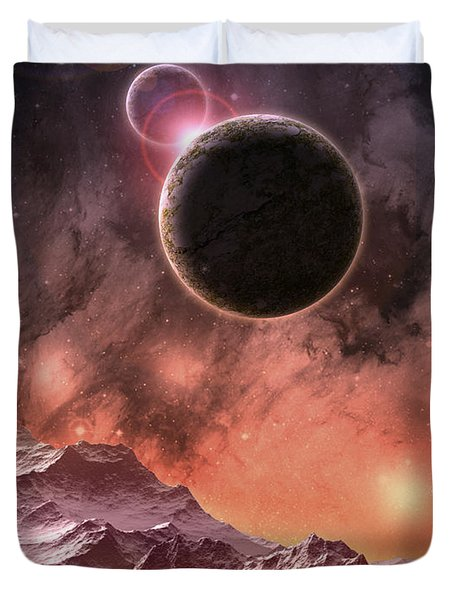 Cosmic Range Duvet Cover by Phil Perkins