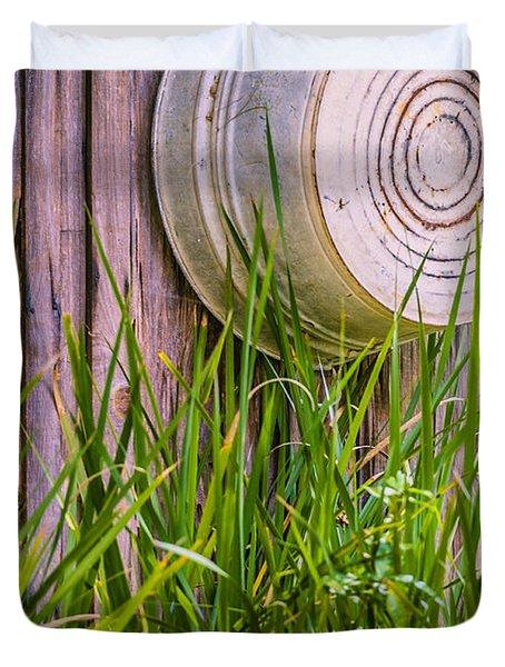 Country Bath Tub Duvet Cover by Carolyn Marshall