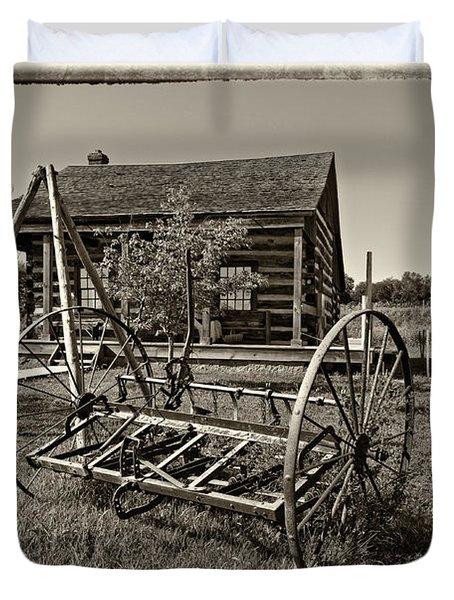 Country Classic Monochrome Duvet Cover by Steve Harrington