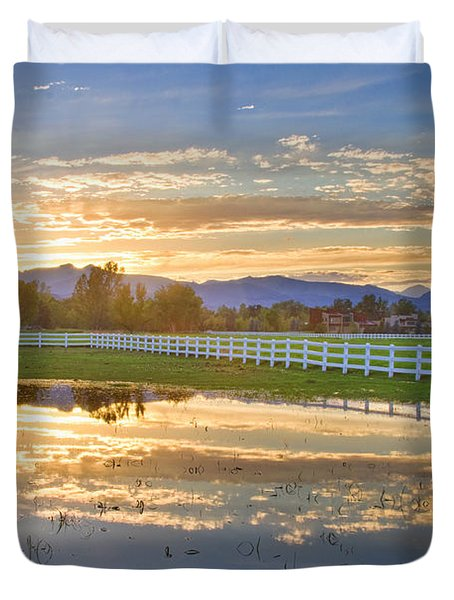 Country Sunset Reflection Duvet Cover by James BO  Insogna