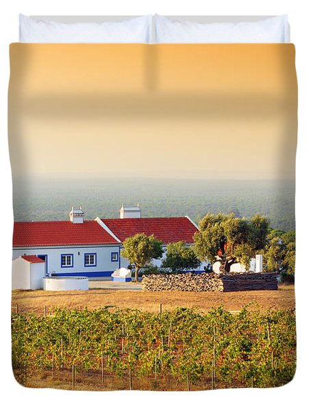 Countryside House Duvet Cover by Carlos Caetano