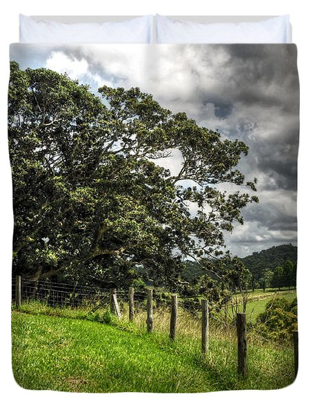 Countryside With Old Fig Tree Duvet Cover by Kaye Menner