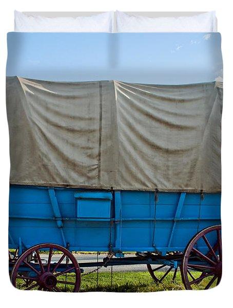 Covered Wagon Duvet Cover by Steve Harrington
