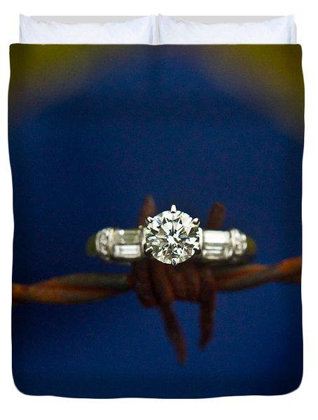 Cowgirl Engagement Ring 1 Duvet Cover by Douglas Barnett