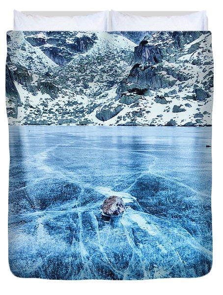 Cracks In The Ice Duvet Cover by Evgeni Dinev