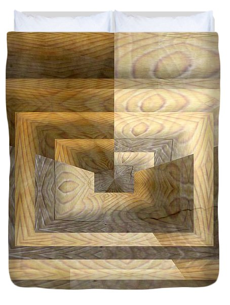 Cracks In The Veneer Duvet Cover by Tim Allen