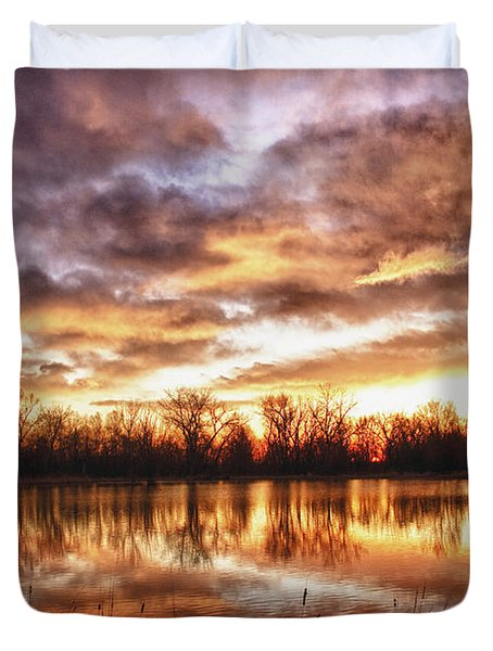 Crane Hollow Sunrise Boulder County Colorado HDR Duvet Cover by James BO  Insogna
