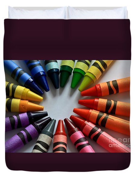 Crayola Color Duvet Cover by Tracy  Hall