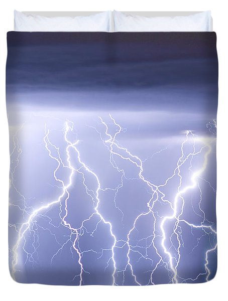 Crazy Skies Duvet Cover by James BO  Insogna