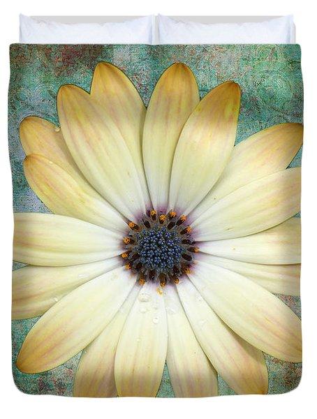 Cream Coloured Daisy Duvet Cover by Chris Thaxter
