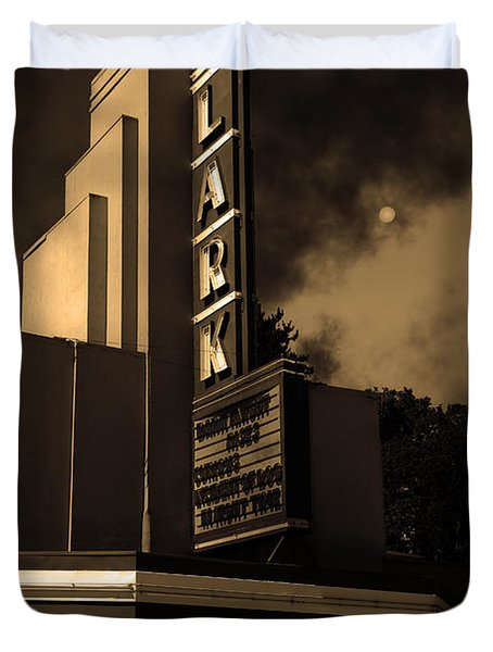 Creature Feature At The Lark - Larkspur California - 5D18484 - Sepia Duvet Cover by Wingsdomain Art and Photography
