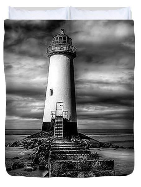 Crooked Lighthouse Duvet Cover by Adrian Evans