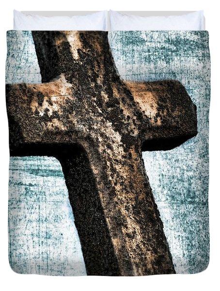 Cross Duvet Cover by Darren Fisher