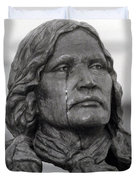 Crying Chief Niwot  Duvet Cover by James BO  Insogna