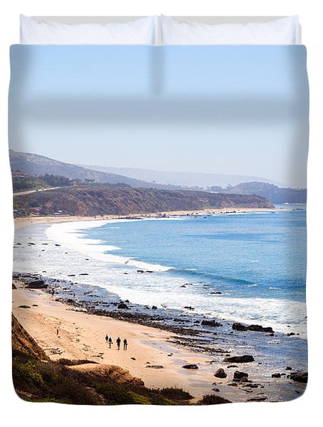 Crystal Cove Orange County California Duvet Cover by Paul Velgos