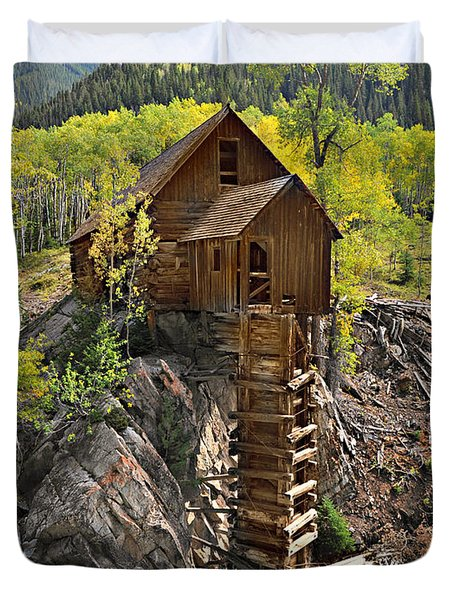 Crystal Mill 4 Duvet Cover by Marty Koch