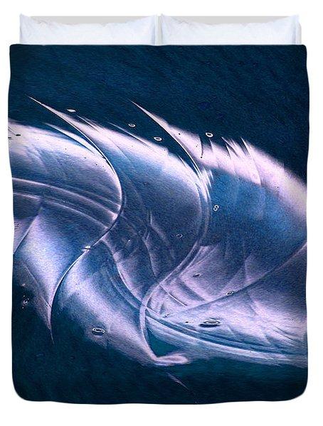 Crystalline Entity Panel 2 Duvet Cover by Peter Piatt