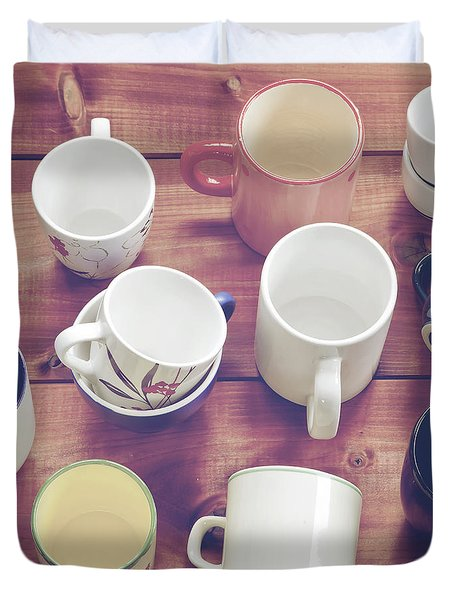 cups Duvet Cover by Joana Kruse