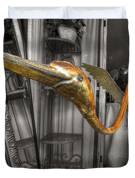 Curio Shop Window Duvet Cover by John Herzog