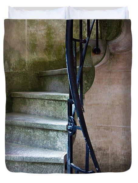 Curly Stairway Duvet Cover by Carlos Caetano
